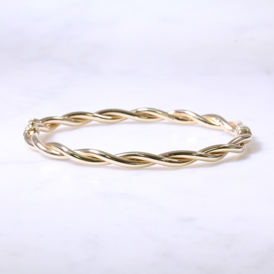 Twist Hinged Bangle