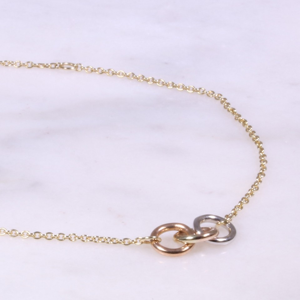 Mixed Gold 3 Ring Bracelet