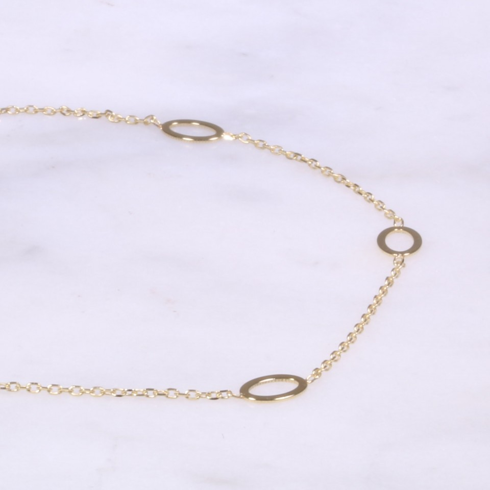 Yellow Gold Fine Oval Bracelet