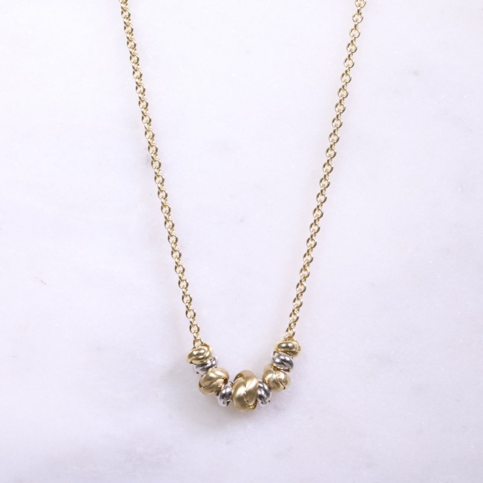 Mixed Gold Multi Bead Necklace