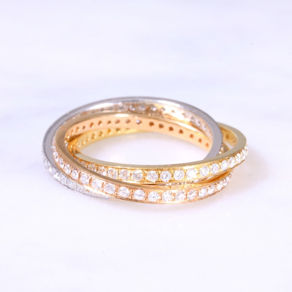 Diamond Russian Wedding Band Lanes Jewellery Prestige Watches In