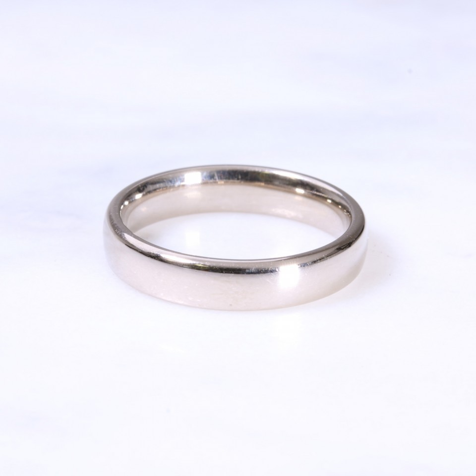 18ct 5mm Yellow & White Gold Wedding Band