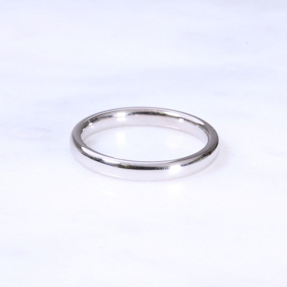 18ct 2.5mm Court Wedding Ring