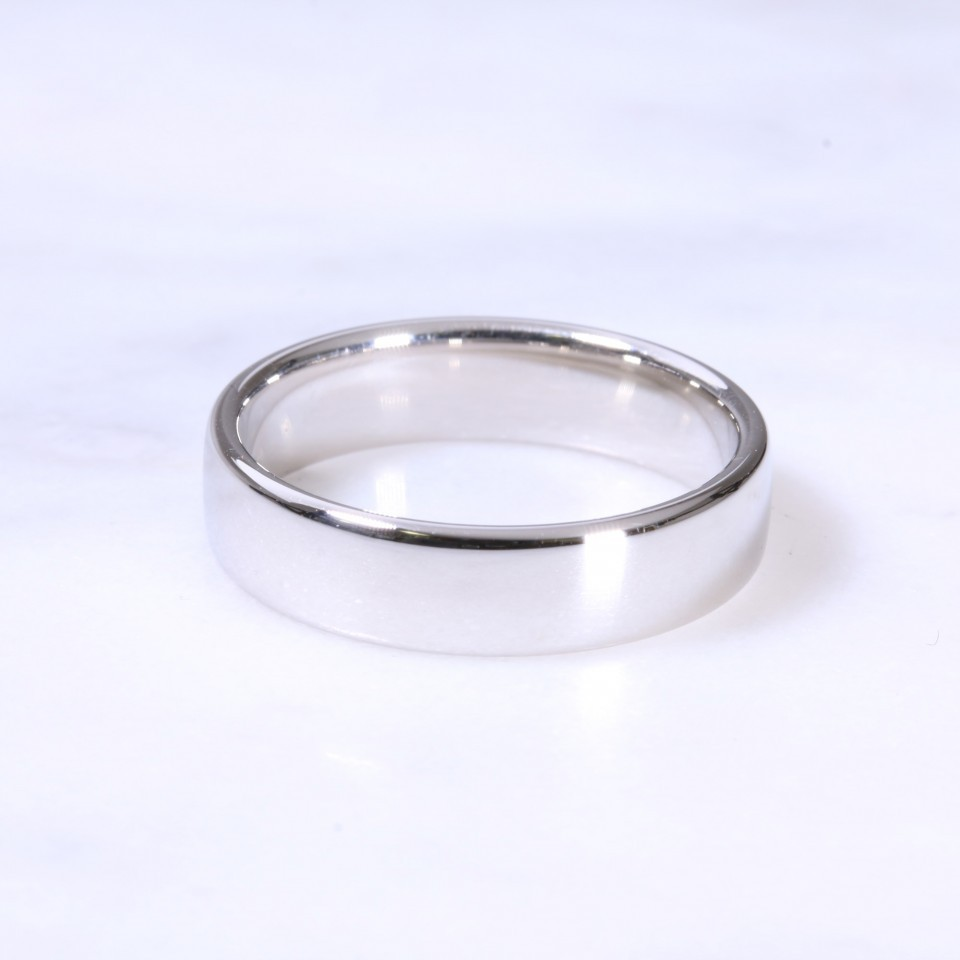Platinum 5mm Court Wedding Ring