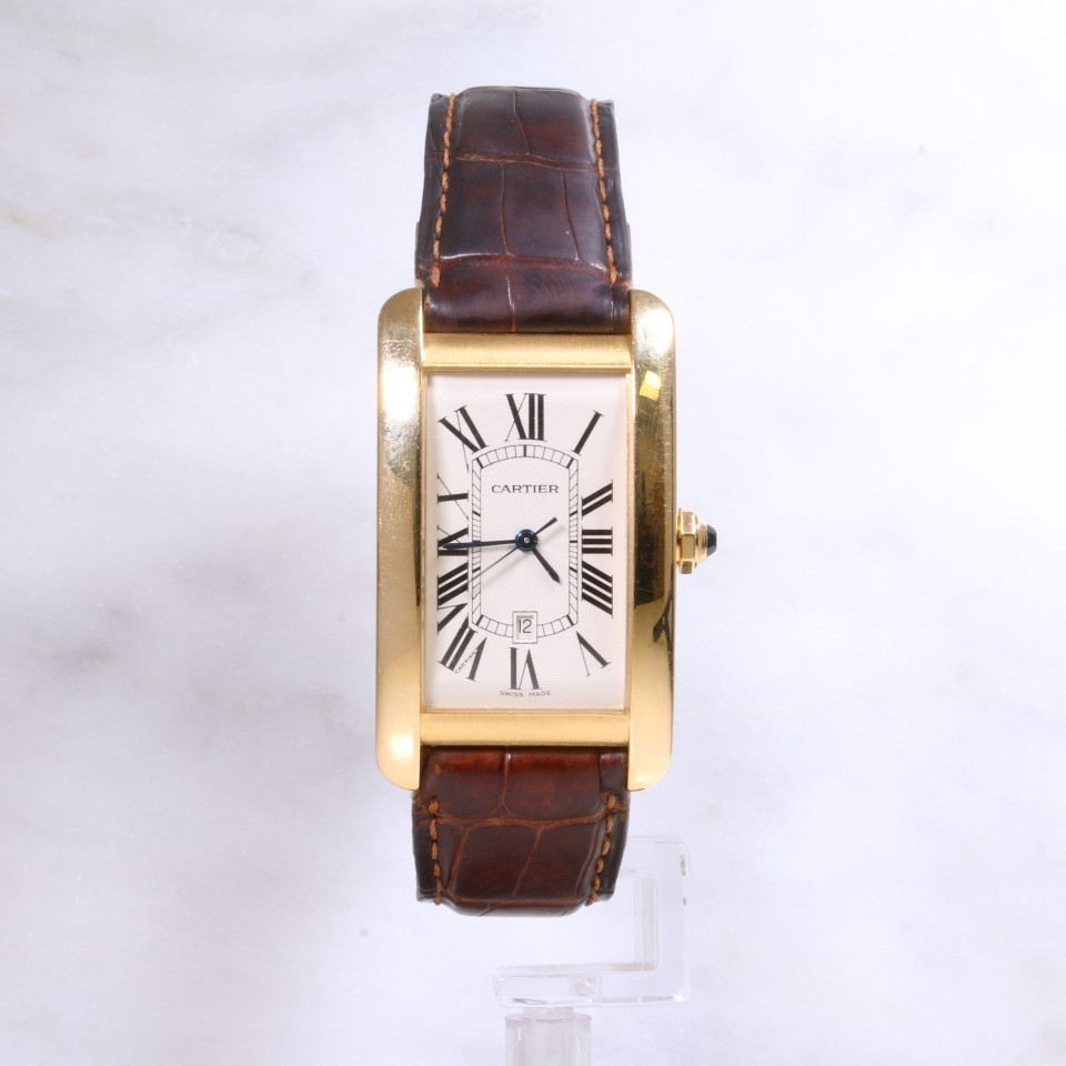Cartier Tank Americaine W2603156 18ct gold