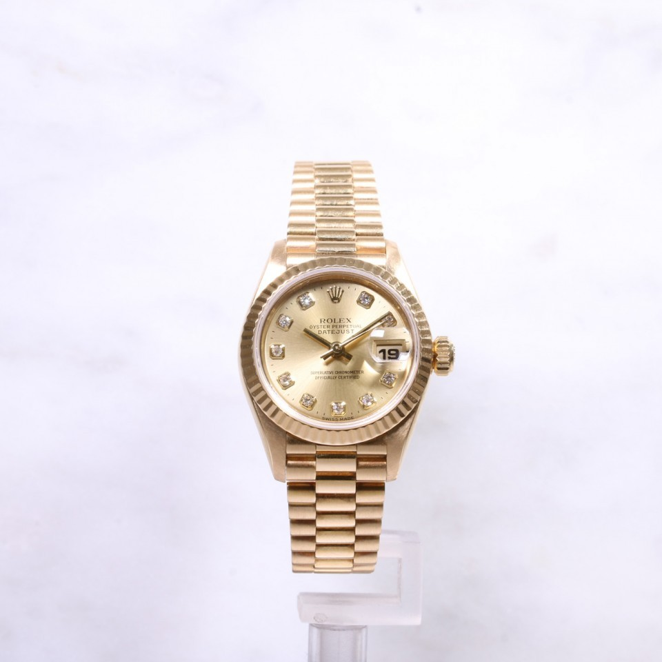 Ladies Rolex Datejust 69178 18ct gold