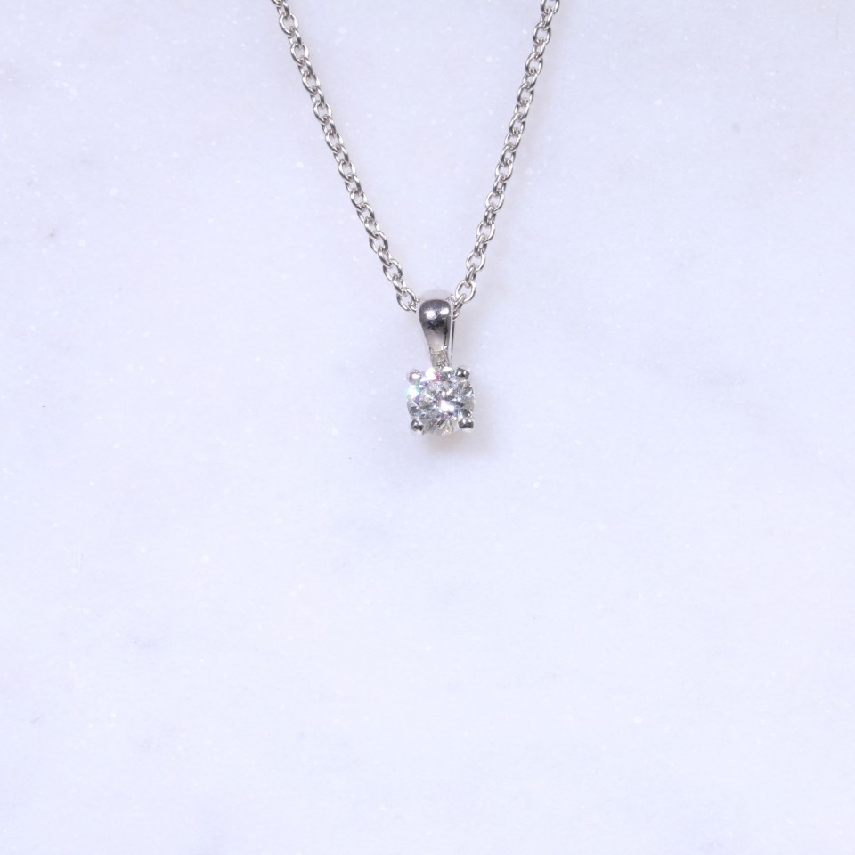 Diamond Round Brilliant Pendant