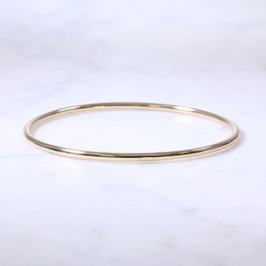 Lanes Solid Round Wire Bangle