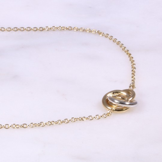 Mixed Gold Fine Knot Bracelet