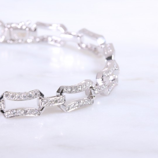 Double bar diamond set bracelet 1.51ct