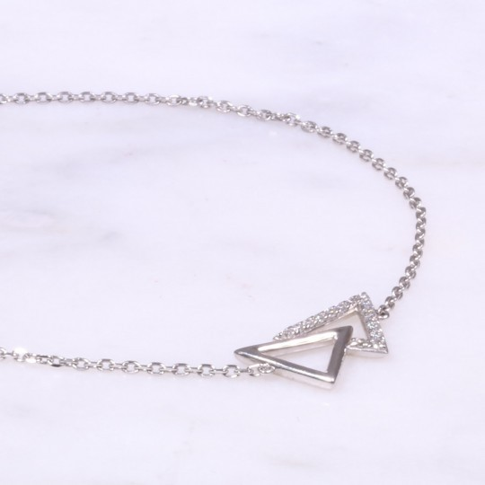 Diamond Triangle Design Bracelet