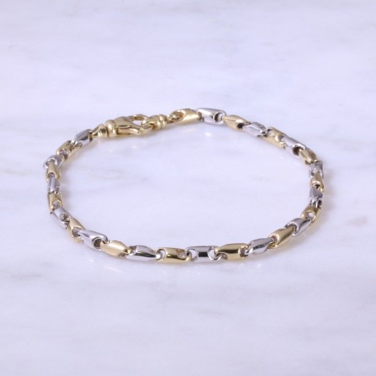 Mixed Gold Fancy Link Bracelet 03-50-108
