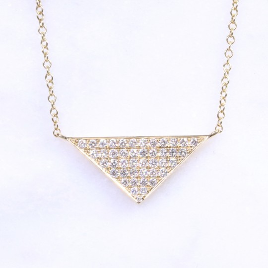 Diamond Triangular Necklace 0.39ct