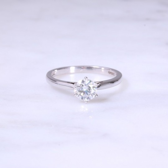 Lanes Round Brilliant Diamond 6 Claw Solitaire Engagement Ring