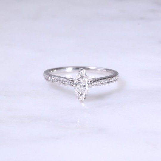 Marquise Cut Diamond Engagement Ring