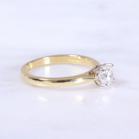 Round Brilliant Diamond 4 claw Solitaire Engagement Ring .70ct
