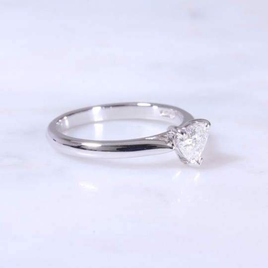 Heart Cut Diamond Solitaire Engagement Ring