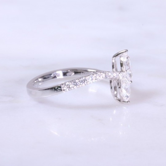 2 Stone Marquise Diamond Ring