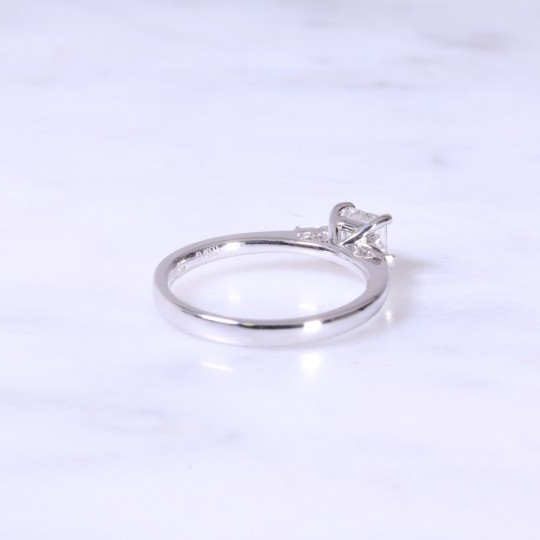 Asscher Cut Diamond Engagement Ring With Tapered Baguettes