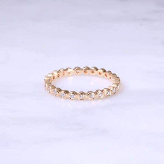 Rub-Over Set Full Eternity Ring