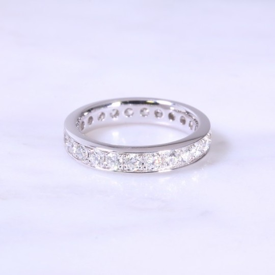Grain Set Diamond Full Eternity Ring
