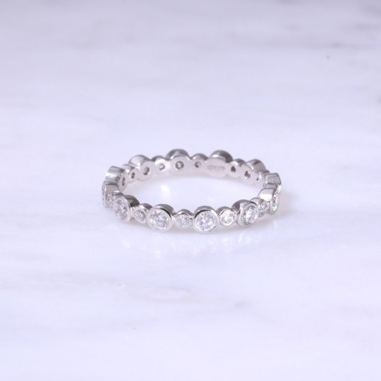 Fancy Rub-Over Diamond Eternity Ring