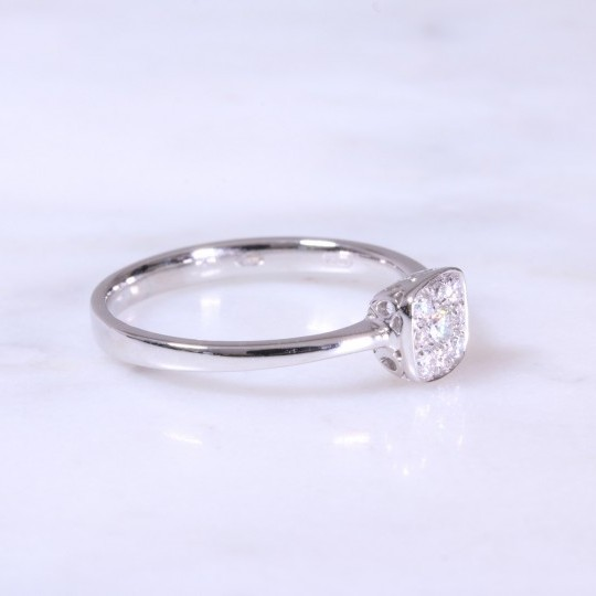 Cushion Pavé Diamond Ring