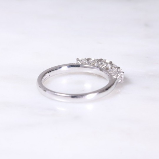 White Gold Diamond Five Stone Ring