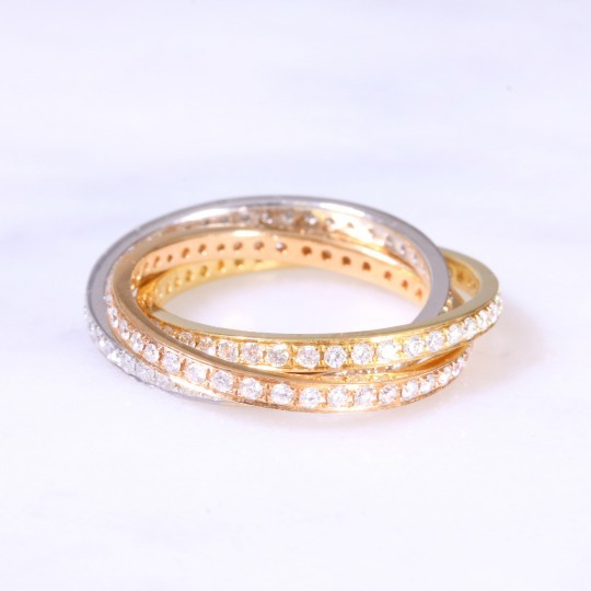 Diamond Russian Wedding Band