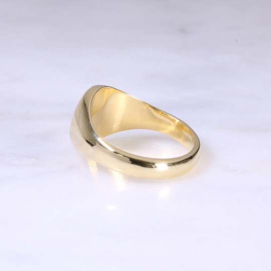 18ct Oval Signet Ring Small