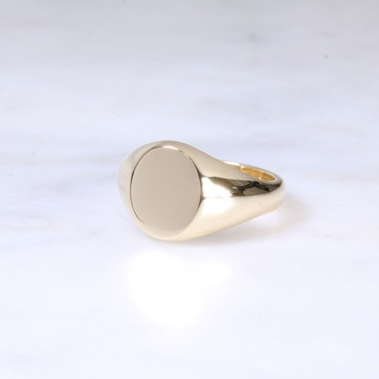 9ct Oval Signet Ring Small