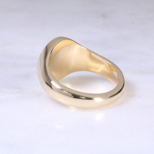 9ct Oval Signet Ring Large