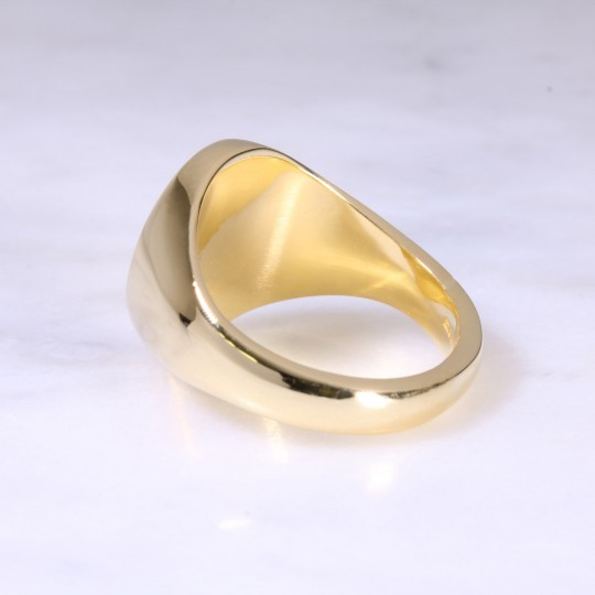 BACK, 18ct Oval Signet Ring X-Large