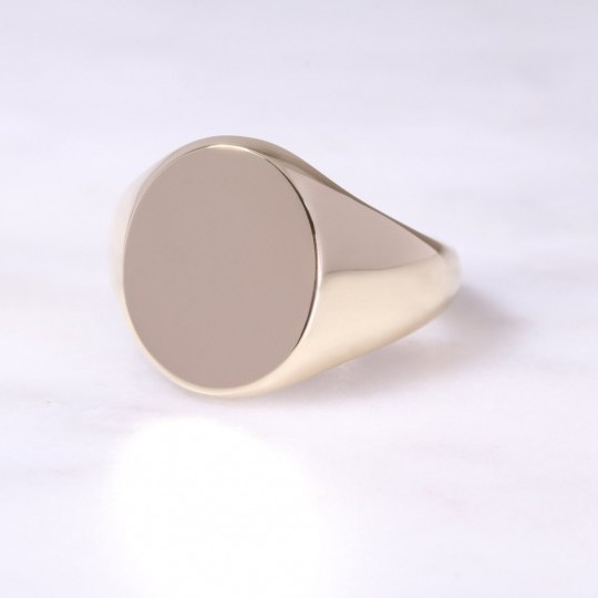 9ct Oval Signet Ring X-Large