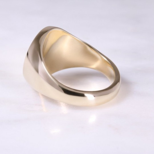 9ct Yellow Gold Oval Signet Ring X-Large