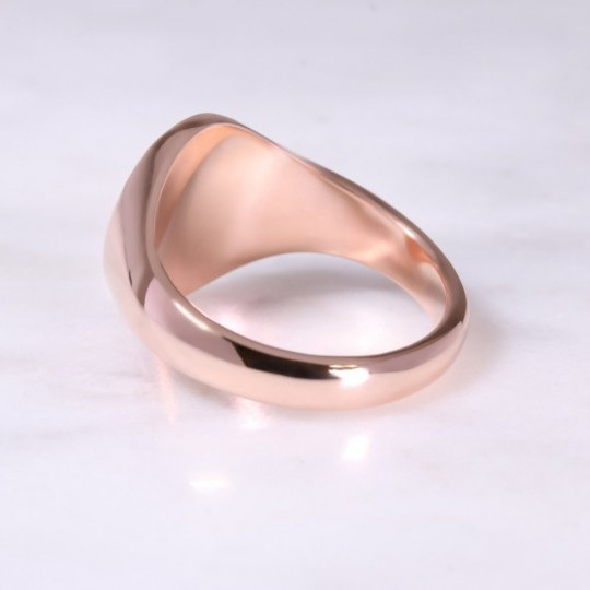 9ct Rose Gold Oval Signet Ring Large