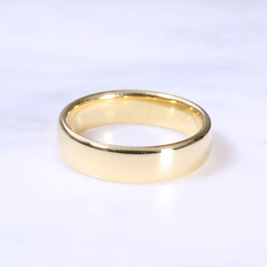 18ct 5mm Court Wedding Ring