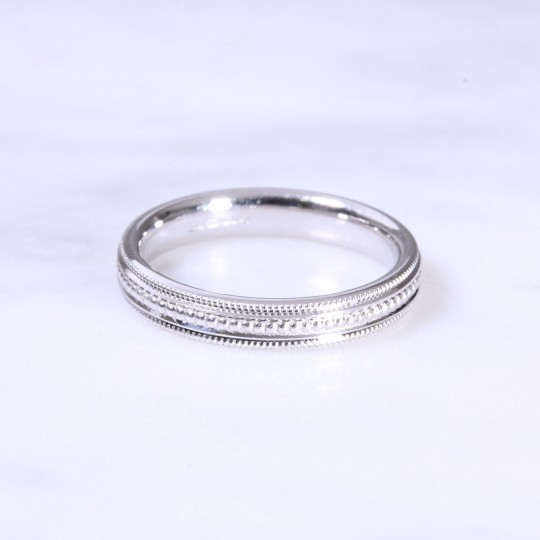 18ct 3.5mm Bead Wedding Band