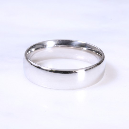 Platinum 6mm Court Wedding Ring