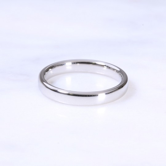 Platinum 3mm Court Wedding Ring