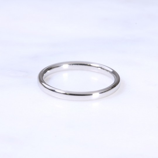 Platinum 2mm Court Wedding Ring