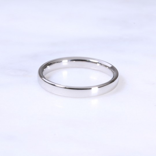 Platinum 2.5mm Court Wedding Ring