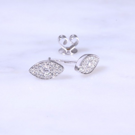 Diamond Marquise Cluster Earrings 0.22ct
