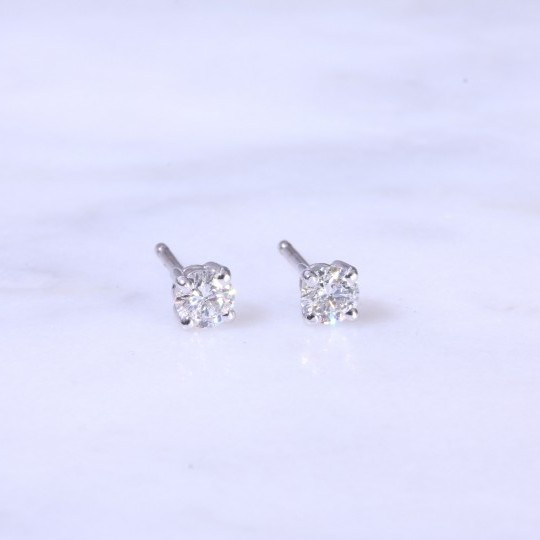 Diamond Ear Studs 0.50ct