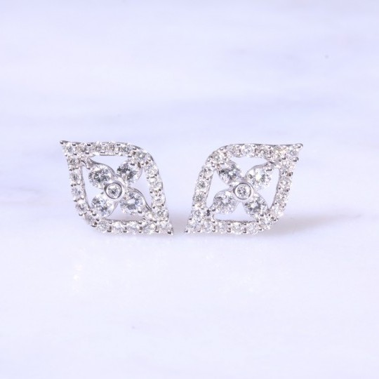 Diamond Tear Shape Ear Studs 0.59ct