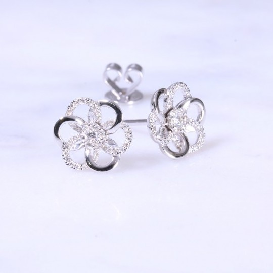Diamond swirl Ear Studs 0.20ct