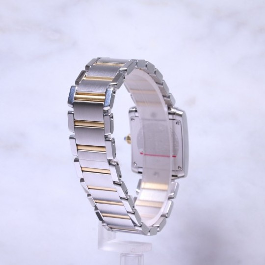 Ladies Cartier Steel & Gold Tank Francaise