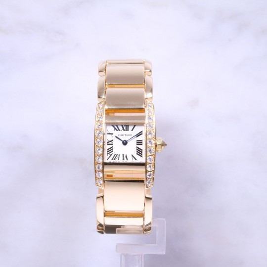 Cartier Tankissime 18ct Gold Diamond Set WE7007ML