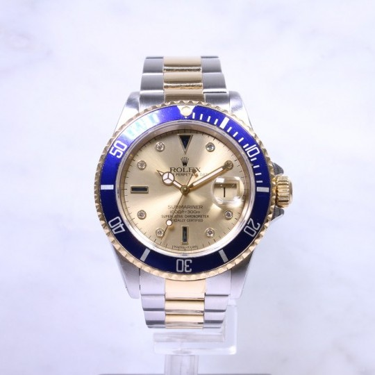 Rolex Submariner Steel & Gold 'Serti' Dial 16613