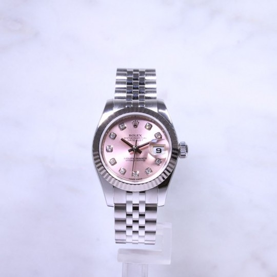 Ladies Rolex Datejust 179174 Pink Diamond Dial